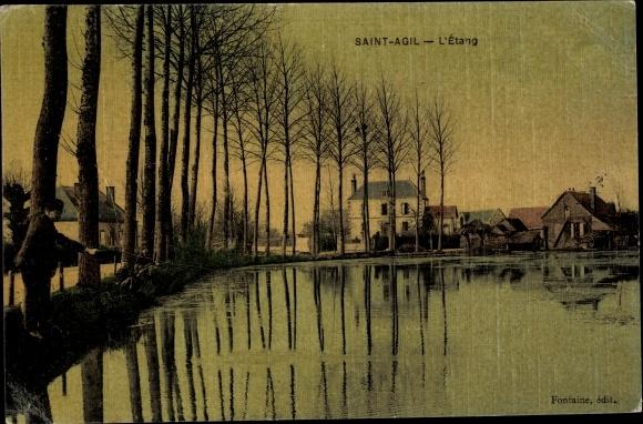 Ak Saint Agil Loir et Cher, L'Etang 0