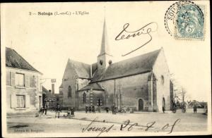 Ak Soings en Sologne Loir et Cher, L'Eglise