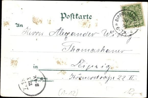 Litho König Friedrich August III. von Sachsen, Sächsischer Fechtverein 1