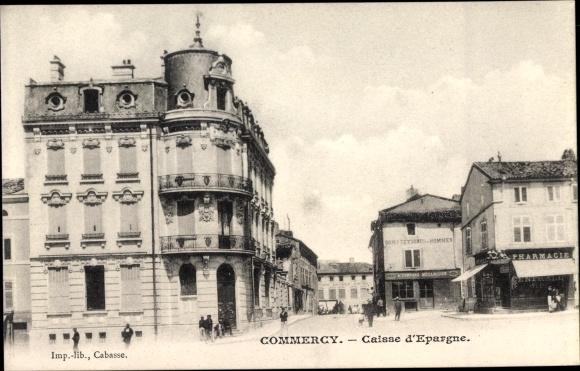 Ak Commercy Lothringen Meuse, Caisse d'Epargne, Pharmacie 0