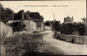 Ak Chantelle Allier, le Chateau, Rue du Couvent