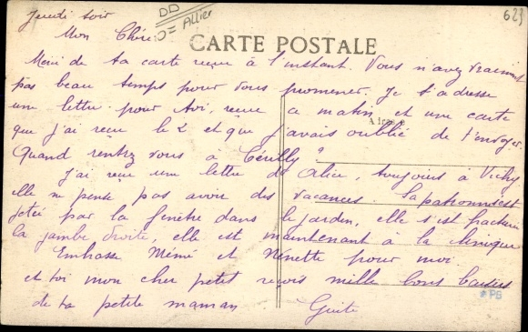 Ak Chantelle Allier, Avenue de la Gare et la Caserne de Gendarmerie Nationale 1