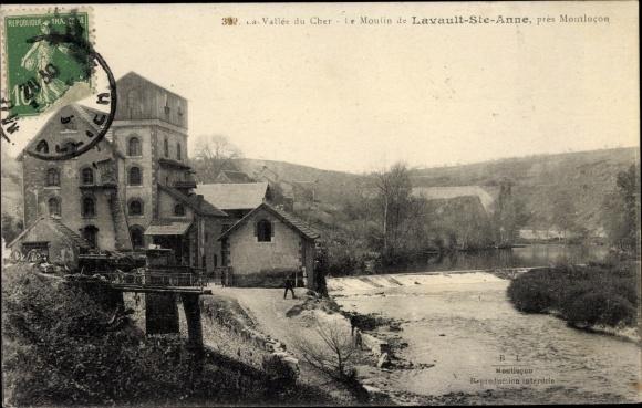 Ak Lavault Sainte Anne Allier, le Moulin, vallée du cher, fleuve 0