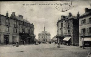 Ak Commentry Allier, rue de la Mine, près la Place du 14 Juillet