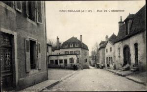Ak Escurolles Allier, Rue du Commerce
