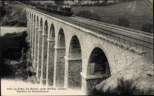 Ak Hyds Allier, Pont du Soleil, Canton de Commentry, locomotive
