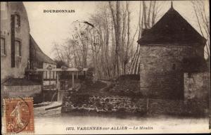 Ak Varennes sur Allier Allier, le Moulin, barrage