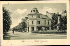 Ak Elsterwerda im Kreis Elbe Elster, Bahnhofstraße