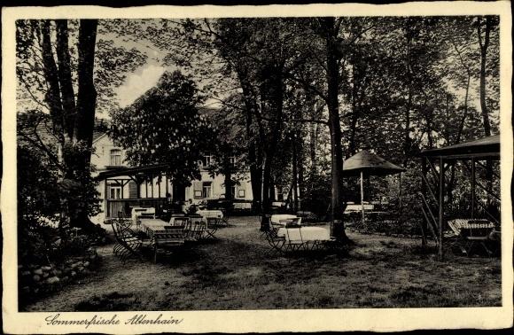 Ak Altenhain Frankenberg an der Zschopau Sachsen, Jägerhaus, Garten 0