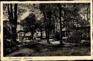 Ak Altenhain Frankenberg an der Zschopau Sachsen, Jägerhaus, Garten