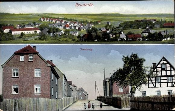Ak Reudnitz Mohlsdorf-Teichwolframsdorf, Panorama, Siedlung 0