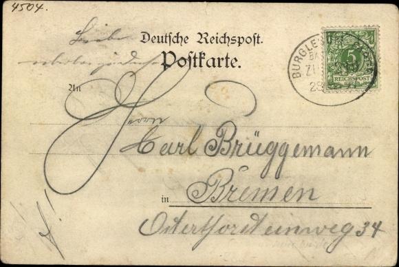 Ak Vegesack Bremen, Schönebeck, Neue Weide, Schweizer Hütte 1