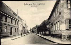Ak Gröningen bei Magdeburg, Marktstraße