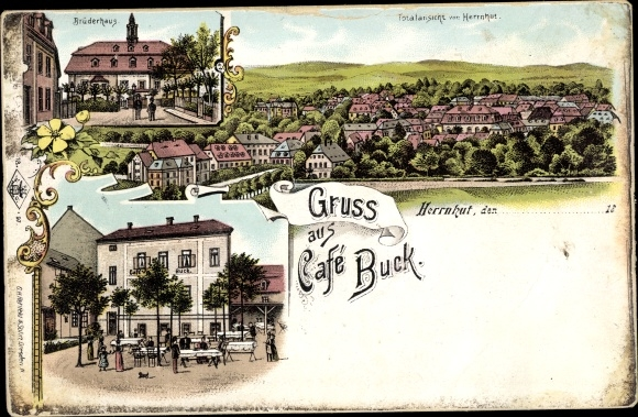 Litho Herrnhut in Sachsen, Café Buck, Brüderhaus 0