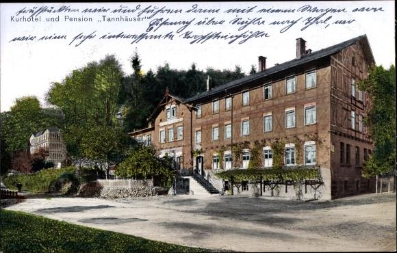 Ak Bad Thal Ruhla in Thüringen, Kurhotel und Pension Tannhäuser 0