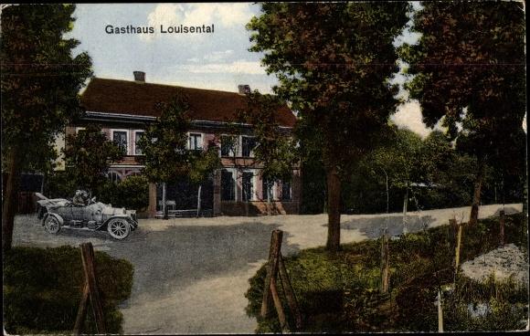 Ak Pechau Magdeburg in Sachsen Anhalt, Gasthof Louisental 0