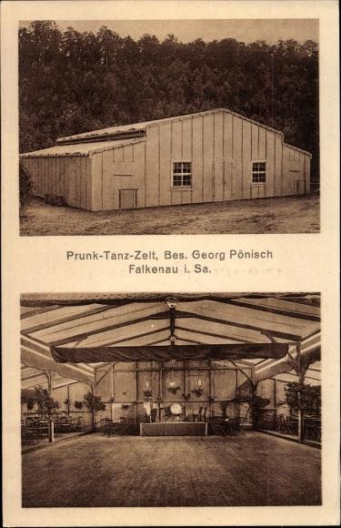 Ak Falkenau Flöha in Sachsen, Prunk-Tanz-Zelt 0