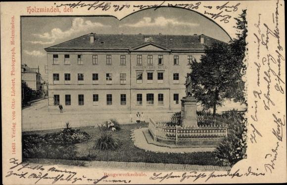 Ak Holzminden an der Weser, Baugewerkeschule 0