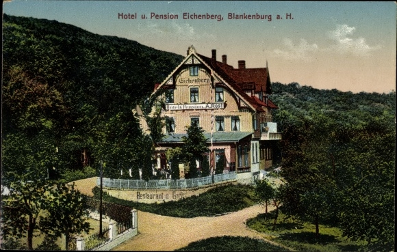 Ak Blankenburg Harz, Hotel Pension Eichenberg, Inh. A. Rost 0
