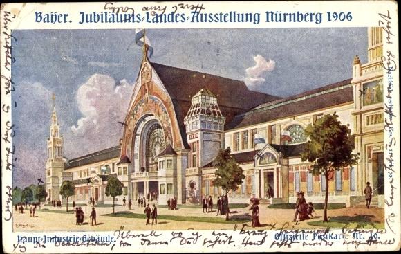 Künstler Ak Bayer. Jubiläums Landesausstellung Nürnberg 1906 0