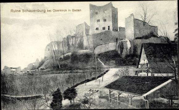 Ak Oberkirch in Baden Württemberg, Ruine Schauenburg 0