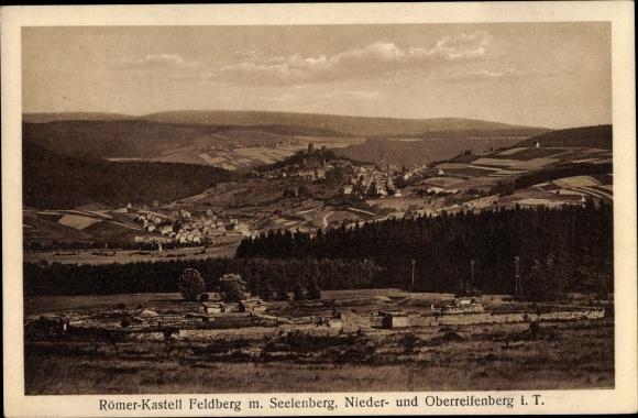 Ak Niederreifenberg Schmitten im Taunus, Großer Feldberg, Römerkastell, Seelenberg 0