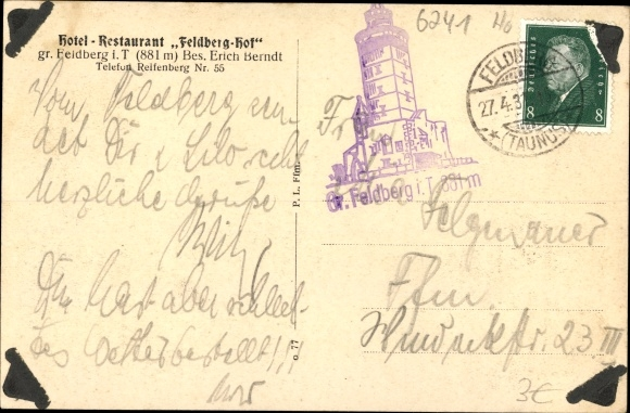 Ak Niederreifenberg Schmitten im Taunus, Großer Feldberg, Römerkastell, Seelenberg 1