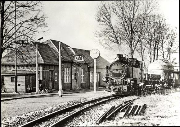 Ak Kipsdorf Altenberg im sächsischen Erzgebirge, Schmalspurbahn, Bahnhof Malter 0
