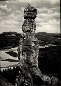 Ak Königstein an der Elbe Sächsische Schweiz, Kletterer an der Barbarine