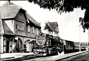 Ak Elend Oberharz am Brocken, Harzquerbahn, 990243-8