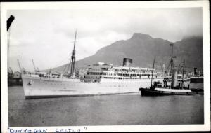 Foto Ak Steamer Dunvegan Castle, Dampfschiff, Union Castle Line
