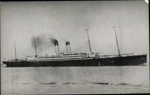 Foto Ak Steamer Cedric, Dampfschiff, White Star Line