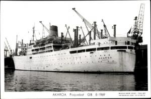 Ak Dampfer Akaroa, Shaw Savill Line