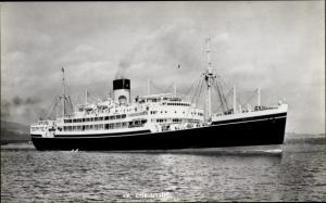 Ak Dampfer SS Corinthic, Shaw Savill Line