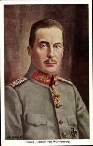 Künstler Ak Hornert, S., Herzog Albrecht von Württemberg