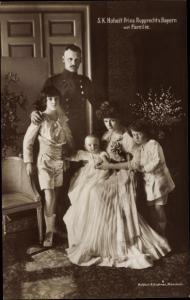 Ak Kronprinz Rupprecht von Bayern mit Familie