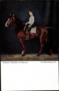 Künstler Ak Bohnenberger, Th., Erbprinz Albrecht von Bayern, Pferd