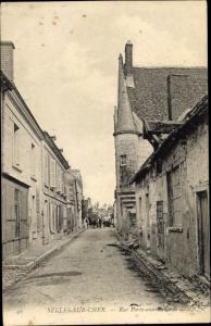Ak Selles sur Cher Loir et Cher, Rue Porte aux Rengards