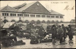 Ak Bourges Cher, Les Halles