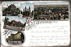 Litho Gernrode Quedlinburg im Harz, Stubenberg, Sternhaus, Haus Hagenthal, Kirche