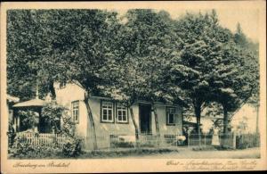 Ak Treseburg Thale im Harz, Gasthaus Goethe Gartenhaus, Reichwaldt Biehl