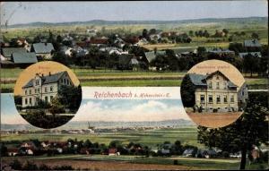 Ak Reichenbach Callenberg in Sachsen, Schule, Haselhuhns Gasthof