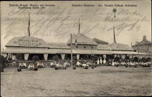 Ak Berlin Schöneberg, Dt. Armee-, Marine- und Kolonialausstellung 1907,Weinhaus Fellbach