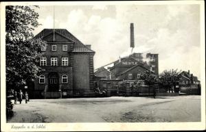 Ak Kappeln an der Schlei, Nestle Fabrik, Schornstein, Gebäude