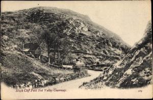 Ak Kanalinsel Guernsey, High Cliff Petit Bot Valley