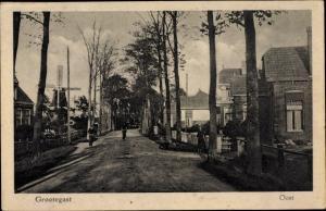 Ak Grootegast Groningen Niederlande, Oost, Straßenpartie