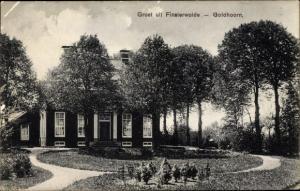 Ak Finsterwolde Groningen Niederlande, Ortspartie