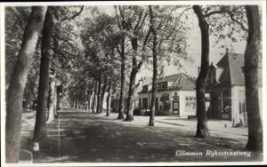 Ak Glimmen Groningen Niederlande, Rijksstraatweg