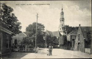 Ak Uithuizermeeden Groningen Niederlande, Ned herv kerk