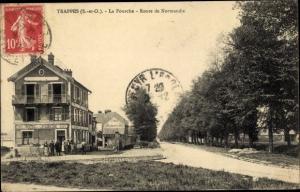 Ak Trappes Yvelines, La Fourche, Route de Normandie